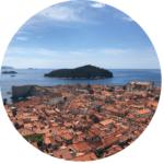 Dubrovnik vieuw from citywalls & Lokrum