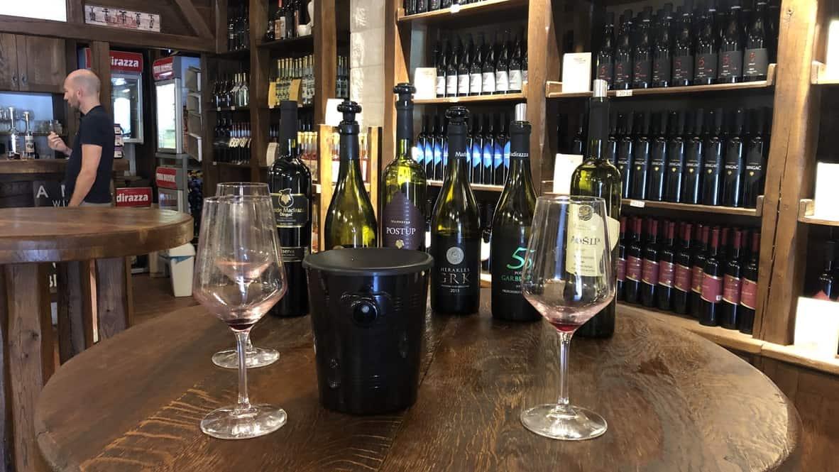 Peljesac wine tasting