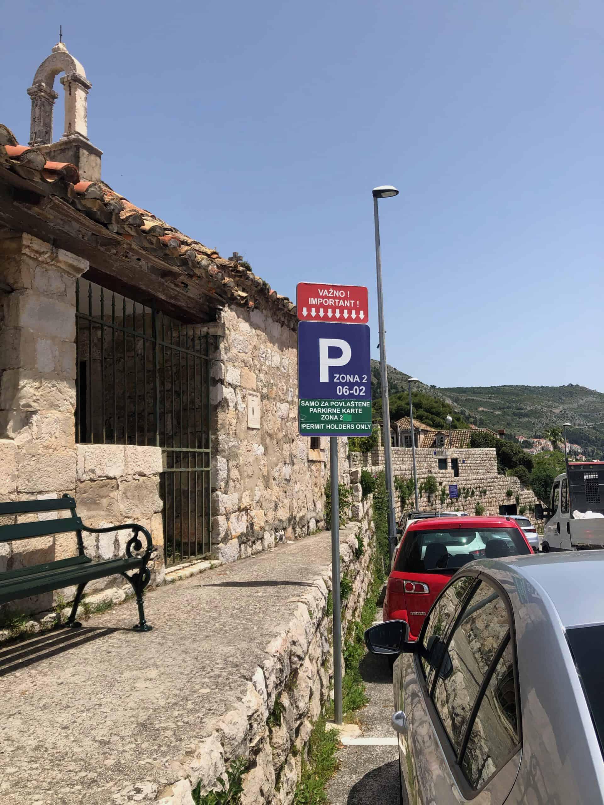 Auto parkeren in Dubrovnik