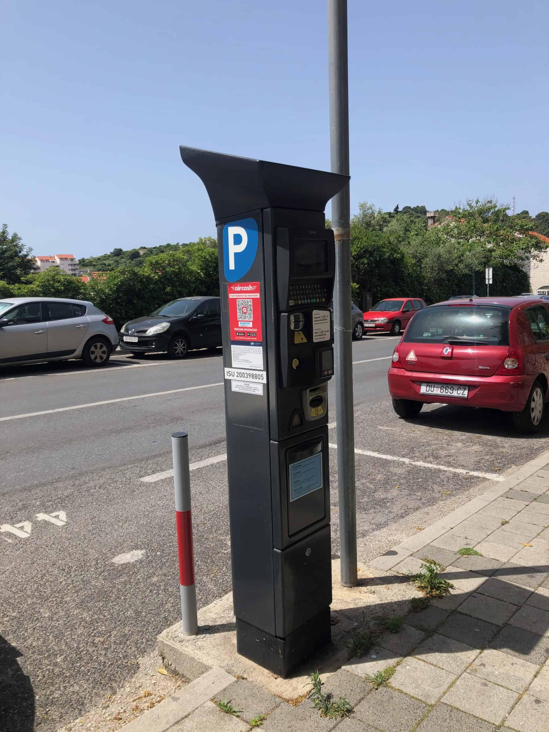 Betaalautomaat parking Dubrovnik