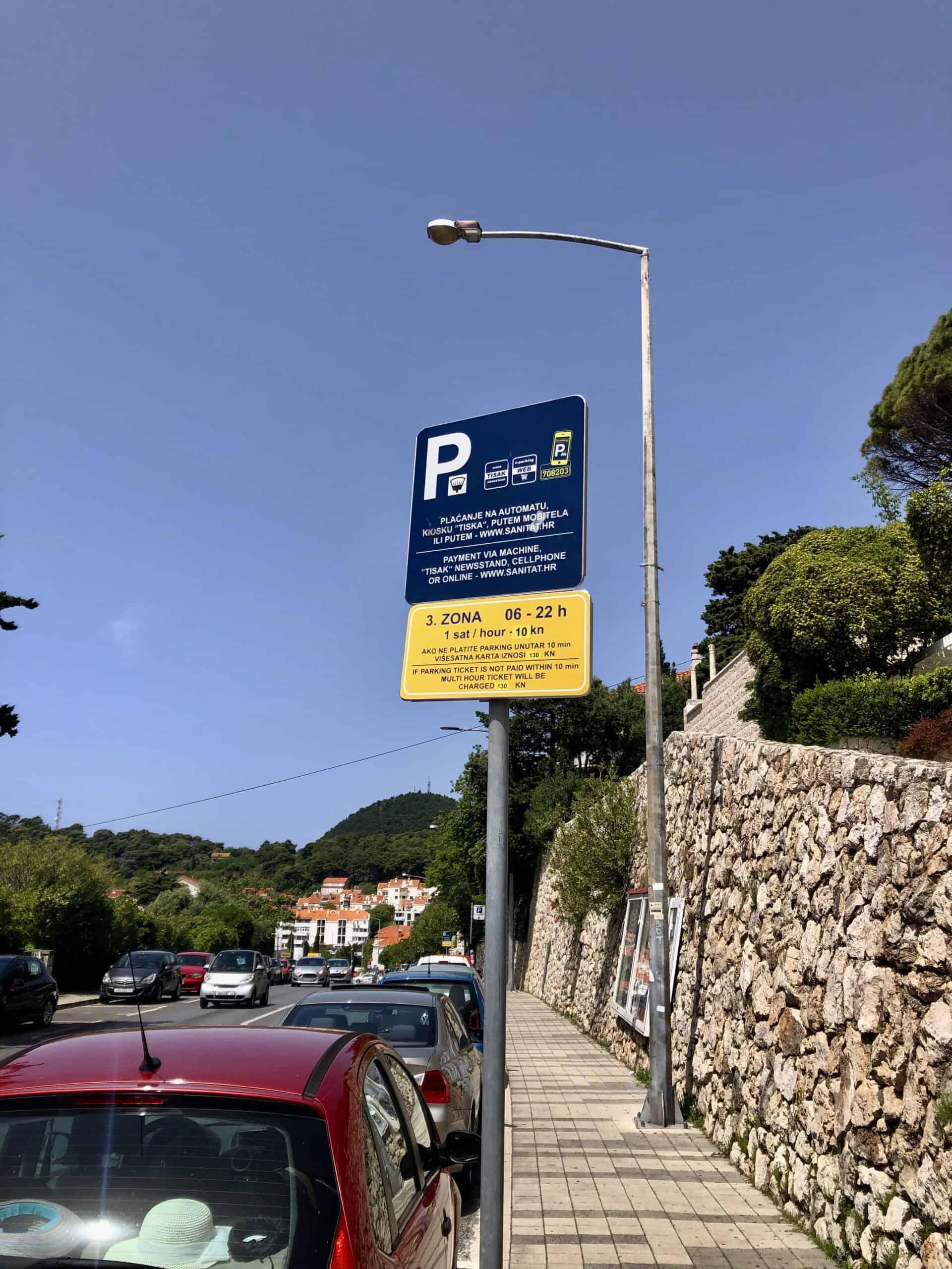 Parkeren in Dubrovnik