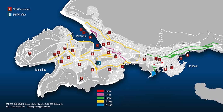 Parkeer zones Dubrovnik