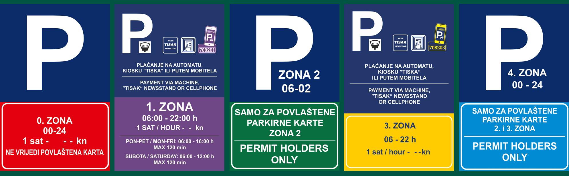 Parkeerborden Dubrovnik